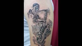 Sax master Mr.Sax...tattoo by Mare