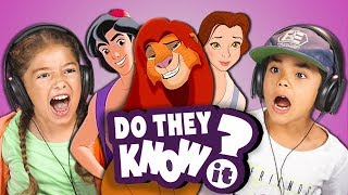 DO KIDS KNOW 90s DISNEY SONGS? (REACT: Do They Know It?)
