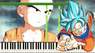 Beyond the Limit / Limit Break x Survivor - Dragon Ball Super OST , Goku Vs Krillin (Piano Tutorial)