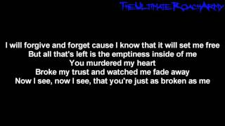 Papa Roach - Broken As Me [Lyrics on screen] HD