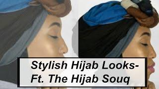 Hijab and Turban Tutorial Ft.  The Hijab Souq | Fatima Jay