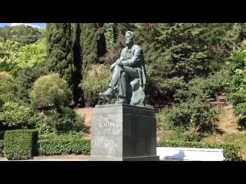 Anton Chekhov Monument In Yalta Park. www.sergoyalta.at.ua