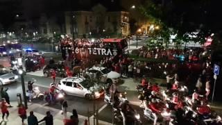 Festa do tetracampeão Benfica na Avenida da República