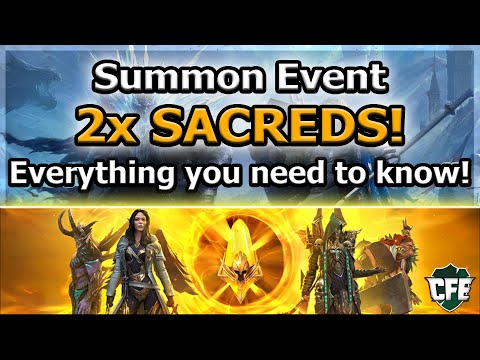 RAID Shadow Legends | 2x SACREDS TOMORROW! | Everything you need to know