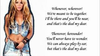 Whenever, Wherever - Shakira [LYRICS]