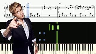 Despacito - Remix - Justin Bieber (Piano Tutorial)