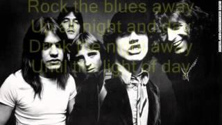 AC/DC - Rock The Blues Away (Lyrics)