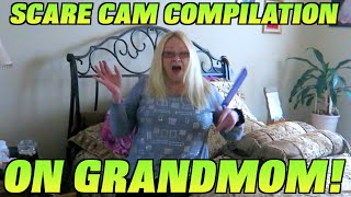 SCARE PRANK COMPILATION ON GRANDMOM! - PRANKS 2016