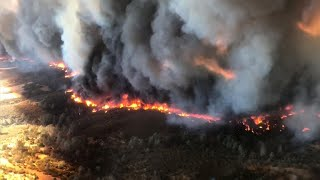 """""""Extreme and aggressive"""" Calif. wildfire explodes in size"""