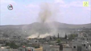 Artillery and aerial shelling from Syrian Forces in Madamiyah of Damascus 12/5/2013