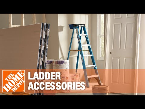 A video highlighting various ladder accessories.