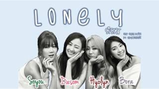 SISTAR (씨스타) - Lonely Color Coded Han/Rom/Eng Lyrics #ThankYouSistar