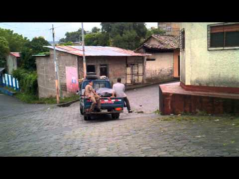 Truck selling Produce on the streets of Boaco Nicaragua