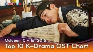 Top 10 K-Drama OST Chart (October 10 - 16, 2016)