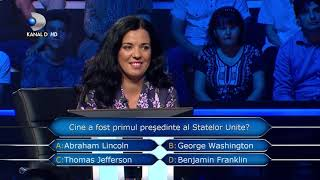 Vrei sa fii milionar? (05.11.2018) - Cine a fost primul presedinte al Statelor Unite?