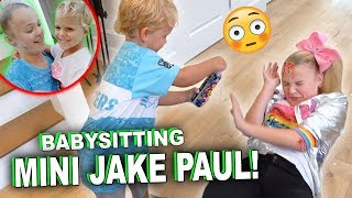 BABYSITTING MINI JAKE PAUL!!! GONE WRONG...