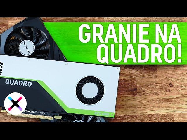 GRANIE NA QUADRO? 😲 | Test i porównanie Quadro RTX 4000 z GeForce RTX 3070 w grach i aplikacjach