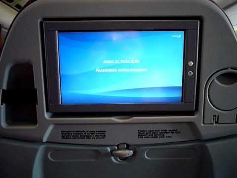 LAN Airlines flight announcement on LA800