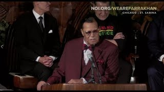 Farrakhan responds to Facebook & Instagram ban! Community rally at St. Sabina Church