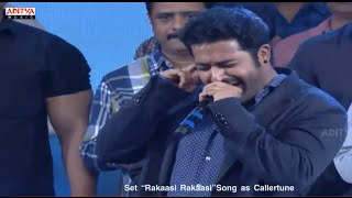 Jr. NTR Singing On Stage - Raakasi Raakasi Song - Rabasa Audio Launch - Rabhasa