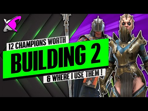 12 CHAMPIONS WORTH BUILDING TWO!! | & Where I Use Them | RAID: Shadow Legends