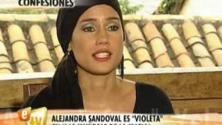 Alejandra Sandoval es la muñeca Violeta