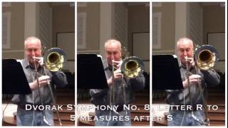 Dvorak Symphony No. 8 4th Mvt Trombone Section Excerpt