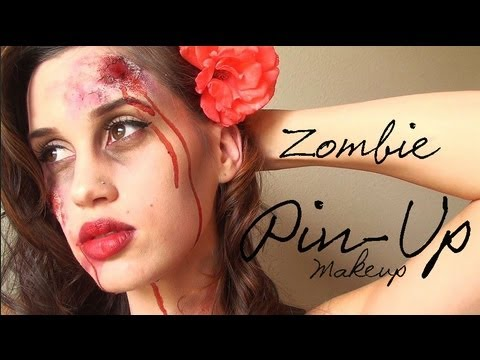 Zombie Pin-Up Girl Halloween Makeup