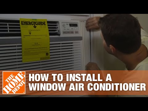 learn how to install a window air conditioner