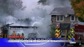 Una familia escapa de un incendio
