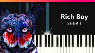 "Galantis - ""Rich Boy"" Piano Tutorial - Chords - How To Play - Cover"
