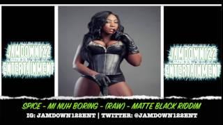 Spice - Mi Nuh Boring (Raw) - Audio -  Matte Black Riddim [Jag One Production] - 2014