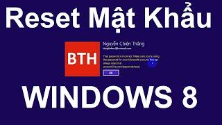 Cách vào Windows 8, 8.1, 10 khi quên mật khẩu tài khoản đã kết nối với email Microsoft