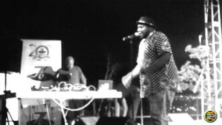 """Tumi   """"Stop the violence"""" performance at Soweto Theatre"""