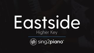 Eastside (Higher Key - Piano Karaoke) benny blanco, Halsey & Khalid