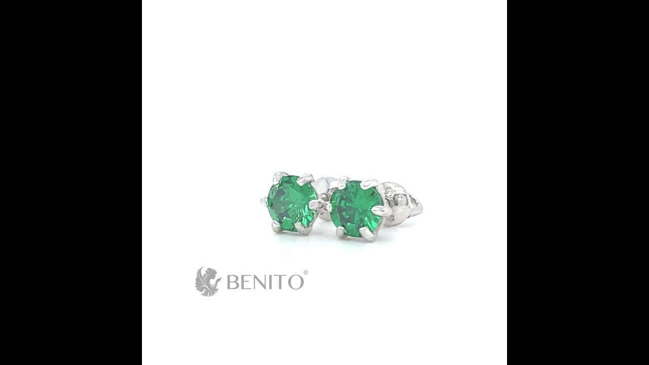 Marta Earrings Green Zircon Stones