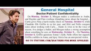 GH SPOILERS Alexis Hayden Finn Dante Morgan Sonny Ava General Hospital Promo Preview 9-30-16 10-3-16