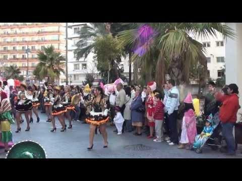 """El Carnaval Colombino de Huelva 2012.-"""" Desfile multicultural"""""""