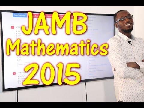 JAMB CBT Mathematics 2015 Past Questions 1 - 15