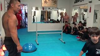 Extreme High Jump Challenge for Brave Kung Fu Kids