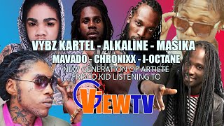 Alkaline, Vybz Kartel, Masicka, Mavado, I-Octane, Chronixx , Frisco Kid listening to