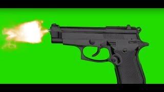 Gun Shoot - Green Screen Animation Footage  Free