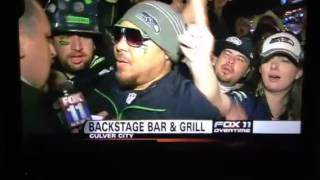 ‪Fox 11 News Overtime Live From The Backstage Bar & Grill‬