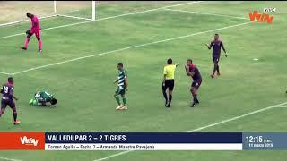Valledupar vs Tigres (2-2) | Torneo Aguila 2019-I | Fecha 7