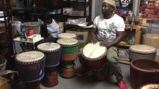 Nice sound and good guinee djembe check by solo keita....