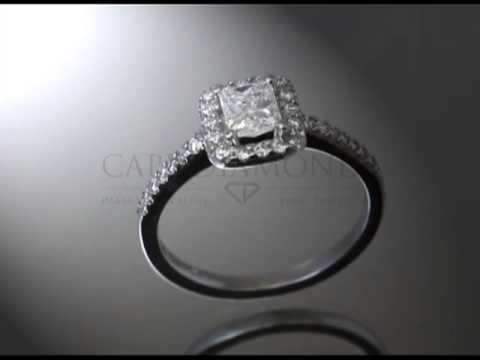 Complex stone ring ,cushion cut diamond,fitting small round diamonds,engagement ring