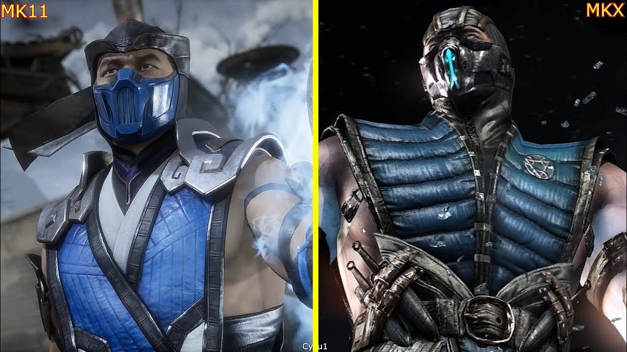 This Video Compares Mkx And Mk11 Early Character Models