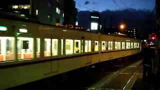 京王6416F 感動の発車シーン(さよならヘッドマーク付き)