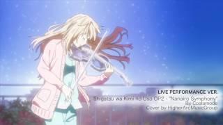 Shigatsu wa Kimi no Uso OP2- Nanairo Symphony- Piano and 2 Violins LIVE
