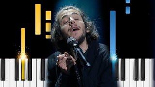 Salvador Sobral - Amar Pelos Dois - Piano Tutorial - Eurovision Song Contest 2017
